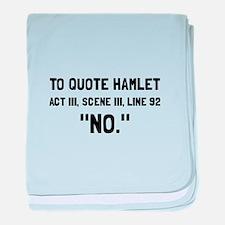 Hamlet Quote baby blanket