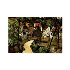 Cezanne - Turn in the Road Rectangle Magnet