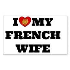 I Love My French Wife, bold te Decal
