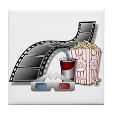3D Movie Cinema Tile Coaster
