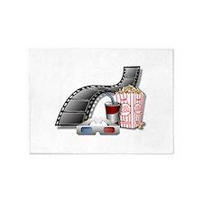 3D Movie Cinema 5'x7'Area Rug