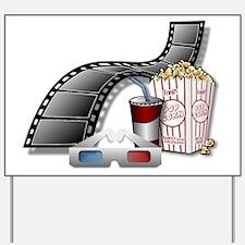 3D Movie Cinema Yard Sign