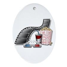 3D Movie Cinema Ornament (Oval)