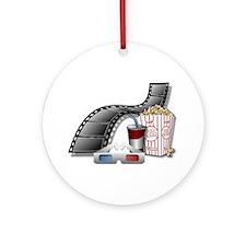3D Movie Cinema Ornament (Round)
