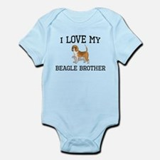 I Love My Beagle Brother Body Suit