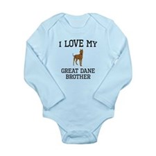I Love My Great Dane Brother Body Suit