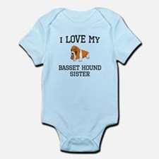 I Love My Basset Hound Sister Body Suit