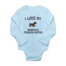 I Love My Norwich Terrier Sister Body Suit