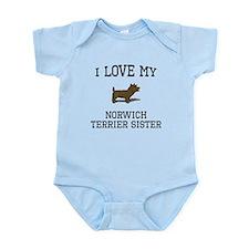 I Love My Norwich Terrier Sister Body Suit