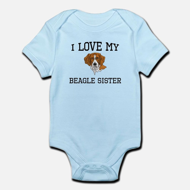 I Love My Beagle Sister Body Suit