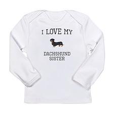 I Love My Dachshund Sister Long Sleeve T-Shirt