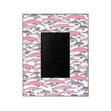 Pink Dolphin Pattern Picture Frame