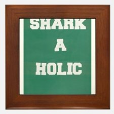 sharkaholic Framed Tile