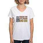 Touch/Die Organ Women's V-Neck T-Shirt