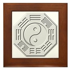 Cute Yin yang Framed Tile