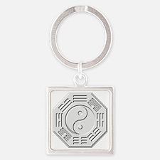 Cute Pa kua Square Keychain