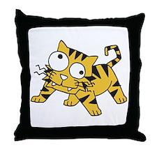 Goofy Baby Tiger Throw Pillow