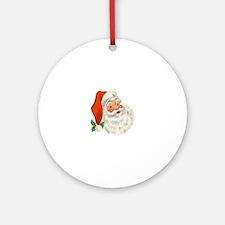Vintage Santa Round Ornament