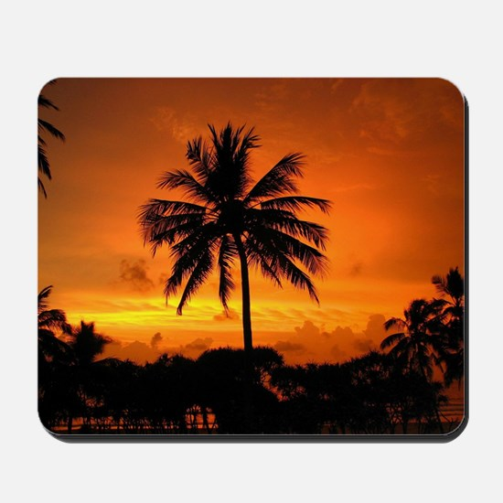 Dazzling Tropical Sunset Mousepad