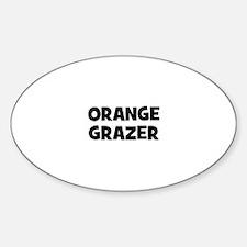 orange grazer Oval Decal