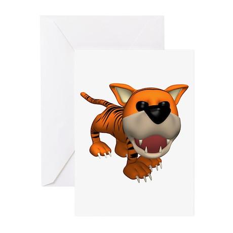 Cute Roaring Tiger Greeting Cards (Pk of 10)