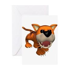 Cute Roaring Tiger Greeting Card