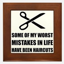 Mistakes Haircuts Framed Tile