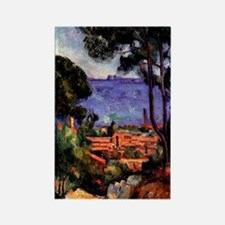 Cezanne - View through the Trees Rectangle Magnet