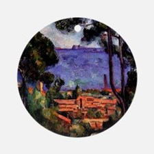 Cezanne - View through the Trees Round Ornament