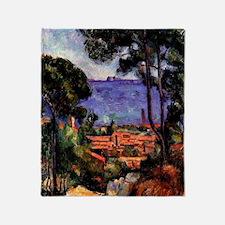 Cezanne - View through the Trees Throw Blanket