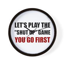 Shut Up Game Wall Clock