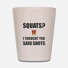 Squats Shots Shot Glass