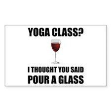 Yoga Class Glass Decal