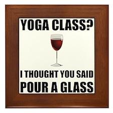 Yoga Class Glass Framed Tile