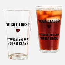 Yoga Class Glass Drinking Glass
