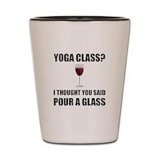 Yoga Class Glass Shot Glass