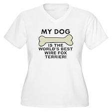 Worlds Best Wire Fox Terrier Plus Size T-Shirt