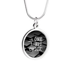 One Fit Chick Silver Round Necklace