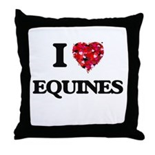 I love EQUINES Throw Pillow