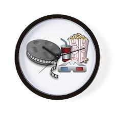 3D Cinema Wall Clock