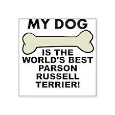 Worlds Best Parson Russell Terrier Sticker
