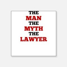 The Man The Myth The Lawyer Sticker