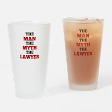The Man The Myth The Lawyer Drinking Glass