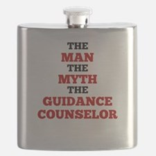 The Man The Myth The Guidance Counselor Flask