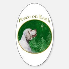 Clumber Peace Oval Decal