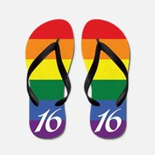 16th Birthday Flip Flops