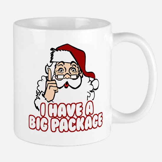 Santa Has A Big Package Mug