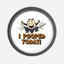 I Pooped Today Wall Clock