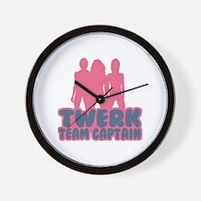 Twerk Team Captain Wall Clock
