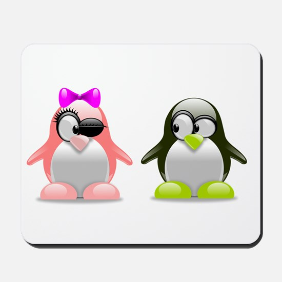 Penguins in love Mousepad